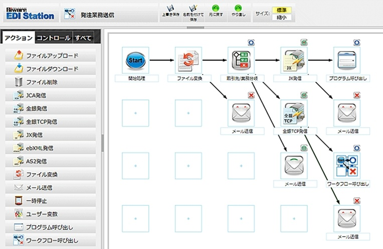 処理フロー定義画面