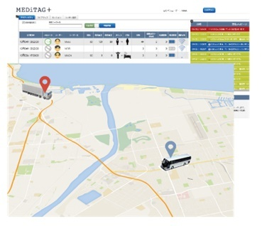 MEDiTAGとGPSデータを利用した安全運行管理